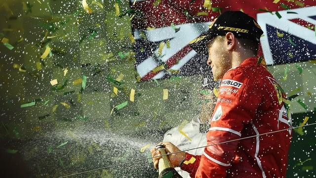 Sebastian Vettel takes 2017's first race victory in Australia