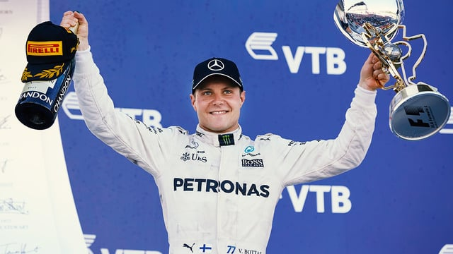 Valtteri Bottas takes first ever F1 race win with Russia victory