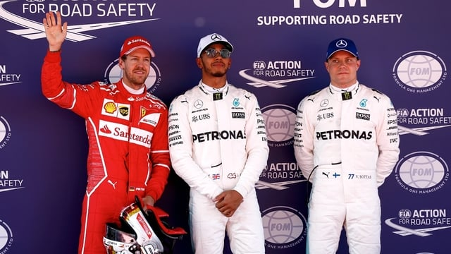 Hamilton takes pole for Spain with Vettel on the front row