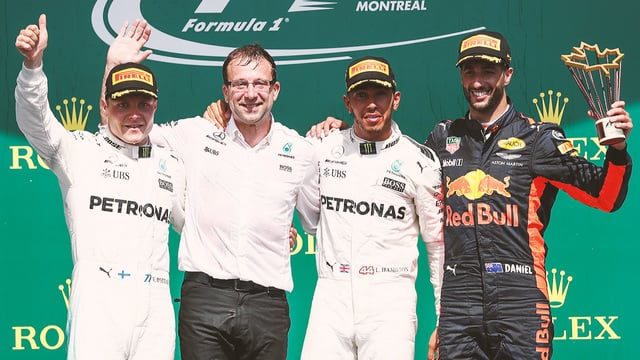 Hamilton wins lonely race as Force India teammates disagree