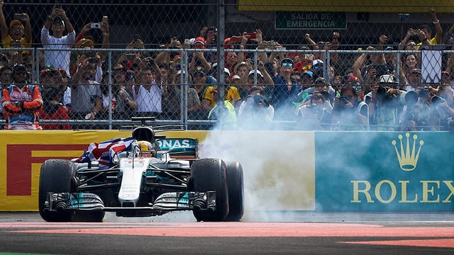 First lap drama in Mexico gives Verstappen victory, but Hamilton the title