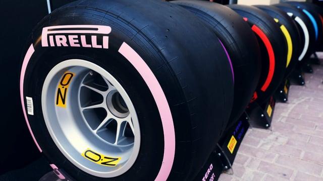 Pirelli reveal rainbow of tyres for 2018